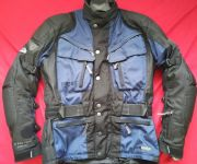 "HEIN GERICKE CRUISE GTX GORETEX CORDURA MOTORCYCLE JACKET 40"" CHEST EU 50 BLUE M"
